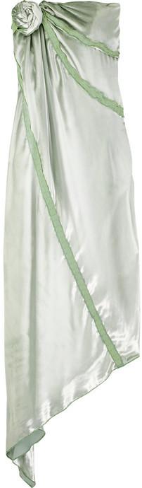 Chris Benz Asymmetric velvet dress