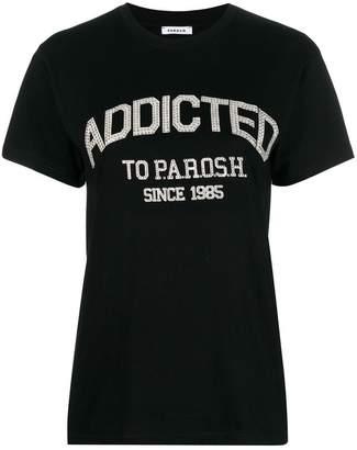 P.A.R.O.S.H. rhinestone print T-shirt