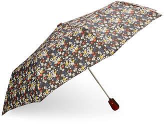 Kensie Black & Multi Floral Umbrella