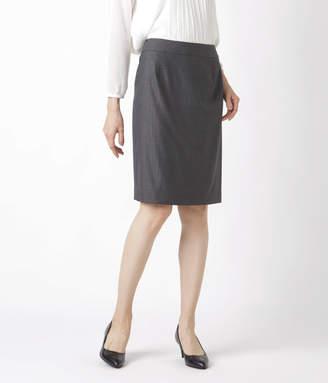 NEWYORKER women's 【アウトレット】ウールシルクストライプ Aラインスカート