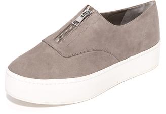 Vince Warner Zip Up Sneakers $250 thestylecure.com