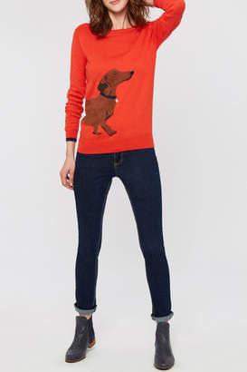 Joules Red Dauchund Sweater