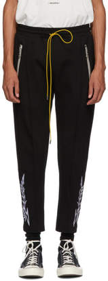 Rhude Black Embroidery Traxedo Trousers