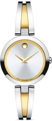 Movado Aleena Diamond Two-Tone Watch, 27mm