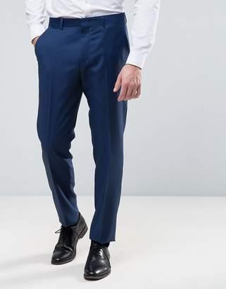 Asos DESIGN Wedding Slim Suit PANTS in Light Navy 100% Wool