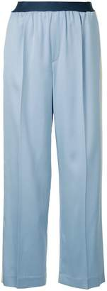 ASTRAET side stripe straight trousers