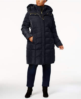 Cole Haan Plus Size Layered Down Puffer Coat
