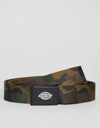 Dickies Orcutt webbing belt in camo