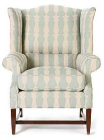 Wingback Chair, Spindle