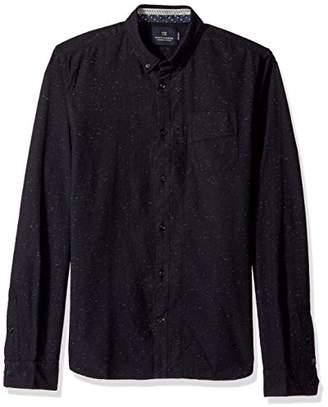 Scotch & Soda Men's Longsleeve Shirt with Neps and Chest Pocket