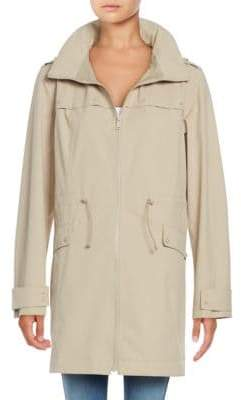 Bernardo Hooded Drawstring Trench