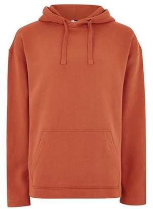 Topman Mens Orange Rust Wide Sleeve Hoodie