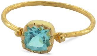 Emma Chapman Jewels - Grecian Gold Apatite Stacking Ring
