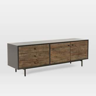 """west elm Reclaimed Wood + Lacquer Media Console (70"""") - Stone Gray"""