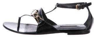 Louis Vuitton Patent Leather Ankle Strap Sandals
