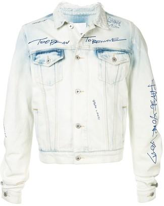 Ground Zero curve-cut sleeve denim jacket