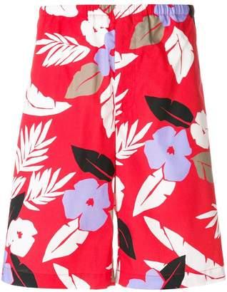 MSGM floral print Bermuda shorts