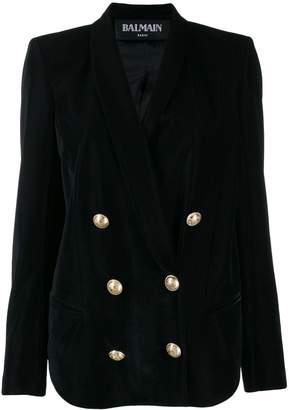 Balmain velvet double breasted blazer