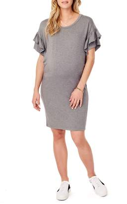 Ingrid & Isabel R) Ruffle Sleeve Maternity T-Shirt Dress