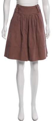 Mayle Knee-Length Pinstripe Skirt