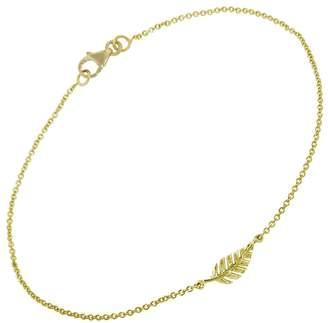 Jennifer Meyer Mini Leaf Bracelet - Yellow Gold