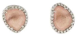Kimberly McDonald 18K Geode & Diamond Stud Earrings
