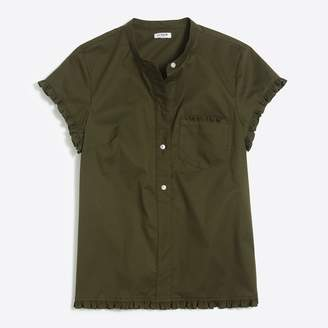 J.Crew Factory Short-sleeved popover with ruffle trim