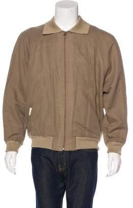 Salvatore Ferragamo Linen Bomber Jacket