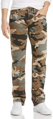 True Religion Ricky Flap Straight Fit Jeans in Camo