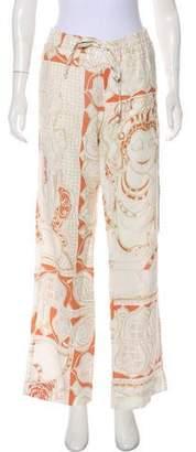 Calypso Linen Mid-Rise Pants
