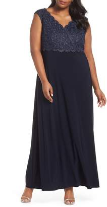 Alex Evenings Lace Bodice Gown