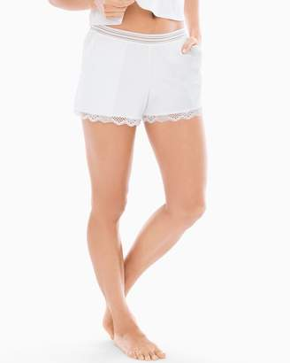Cotton & Lace Pajama Shorts White