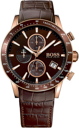 HUGO BOSS 1513392 Rafale rose gold-plated stainless steel watch $265 thestylecure.com