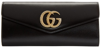 Gucci Black Torchon Broadway Clutch
