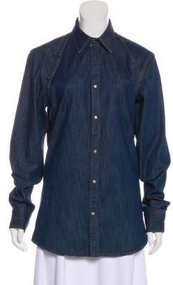 Alexander McQueen Denim Long Sleeve Jacket