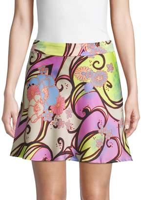 Free People Floral Mini Skirt