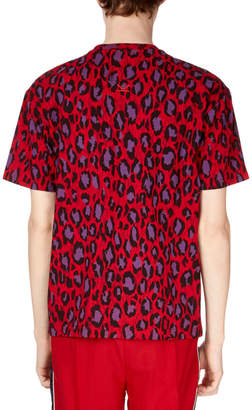 Kenzo Men's Neon Leopard-Print T-Shirt