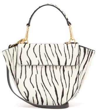 Wandler Hortensia Mini Zebra Calf Hair Cross Body Bag - Womens - Black White