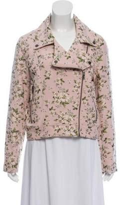 Blank NYC Floral Zip-Up Jacket