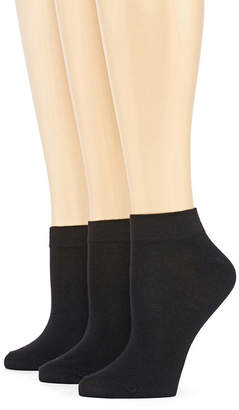 JCPenney MIXIT Mixit 3 Pack Low-Cut Socks- Womens