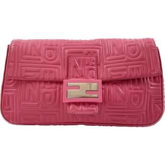Fendi Pink Leather Clutch Bag