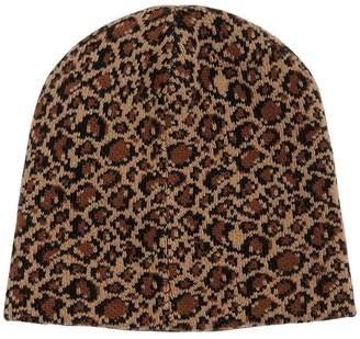 Prada Leopard Wool & Cashmere Knit Beanie