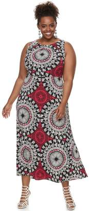 Plus Size Suite 7 Geometric Maxi