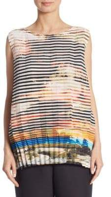 Issey Miyake Sleeveless Plate Pleat Top