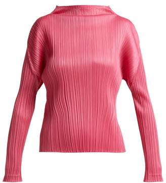 Pleats Please Issey Miyake Pleated Top - Womens - Pink