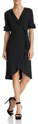 Aqua Ruffled Rib-Knit Wrap Dress - 100% Exclusive