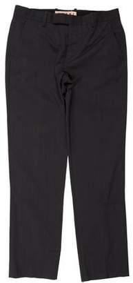 Marni Woven Flat Front Pants