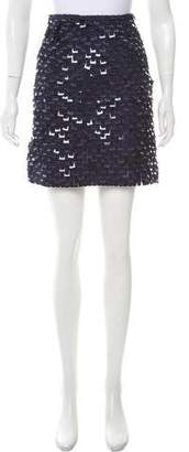Lela Rose Textured Mini Skirt