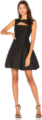 Halston Asymmetrical V Neck Dress
