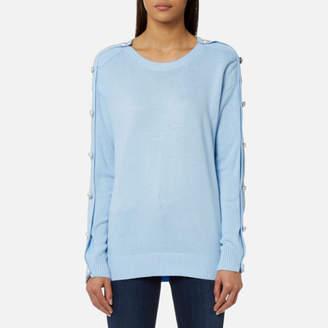 Michael Kors MICHAEL Women's Gem Button Sweatshirt